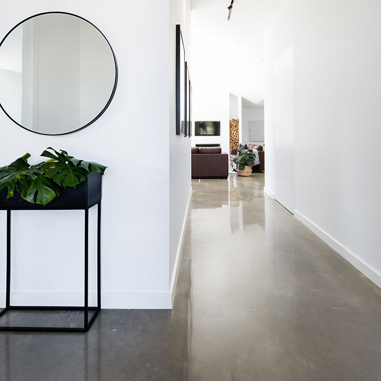polished concrete overlay flooring