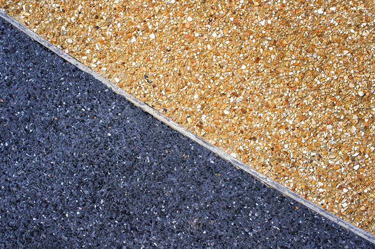 exposed aggregate concrete colour