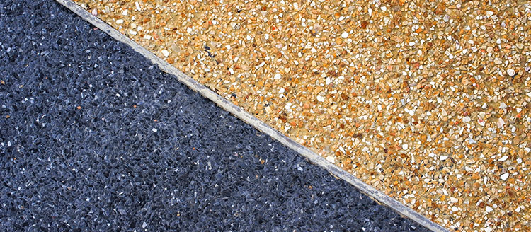 header exposed aggregate