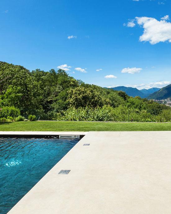 liquid limestone concrete pool area