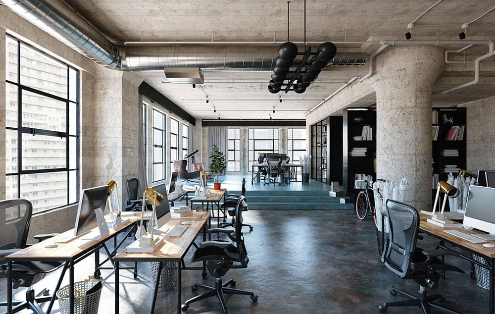 industrial design in commercial space